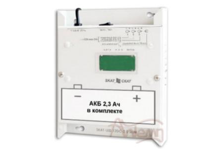 Источник бесперебойного питания с функцией управления светодиодными светильниками SKAT-LED.12DC-2,0 SLIM