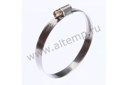 Хомут червячный из нержавеющей стали PL-12 (10-16)/W2 FORTISFLEX