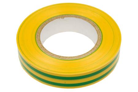 Профессиональная изолента ПВХ 15мм х 20м желто-зеленая Klebebander