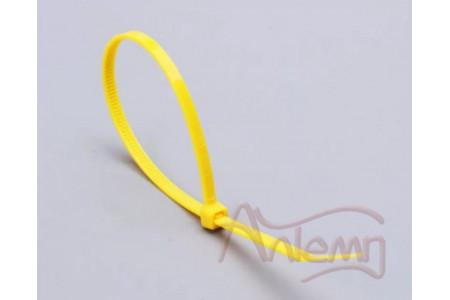 Кабельные стяжки нейлоновые КСС 3*100 (ж) FORTISFLEX желтые