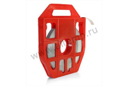Лента монтажная в пластиковой кассете из нержавеющей стали AISI 201, ЛКС (201)-2007  (25м) FORTISFLEX