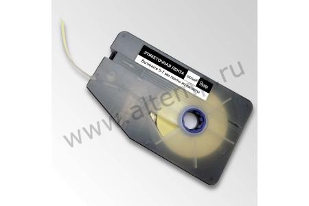 Лента белая самоклеющаяся пленочная для принтера Термомарк Кп220, 6мм