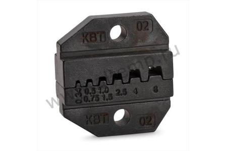 Номерные матрицы для опрессовки изолированных и неизолированных штыревых втулочных наконечников - МПК-02