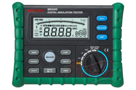 Измеритель сопротивления изоляции (мегаомметр) Mastech MS5205