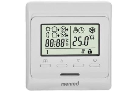 Терморегулятор Menred E 51.716 программируемый с датчиком пола и воздуха