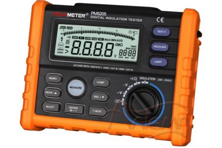 Измеритель сопротивления изоляции (мегаомметр) PeakMeter PM5205