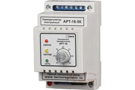 Терморегулятор АРТ-18 (переключающийся контакт) с датчиком KTY-81-110, 1-3 кВт, 5-16А, DIN