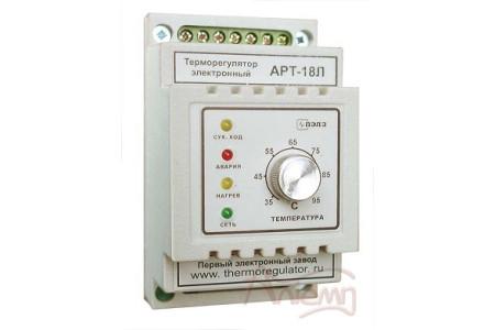 Терморегулятор АРТ-18Л с защитой от сухого хода, с датчиком KTY-81-110, 3 кВт, 16А, DIN