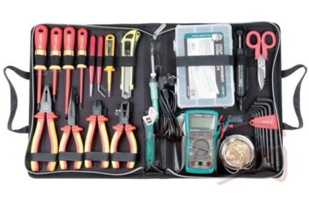 Набор инструментов для работы с высоким напряжением (до 1000В) Pro'sKit PK-2807B
