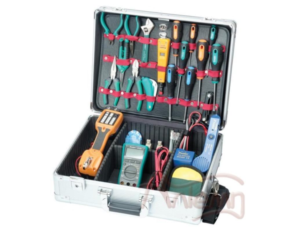 Набор инструментов для обслуживания телефонных сетей Pro´sKit PK-4019B