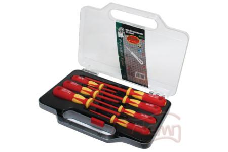 Набор отверток для работы с высоким напряжением (до 1000В) Pro'skit SD-8011