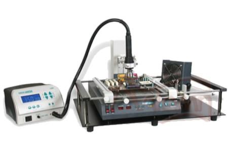 Паяльно-ремонтный комплекс QUICK 855 экономичный (QUICK855PG+QUICK855T+рамка-держатель+вентилятор)