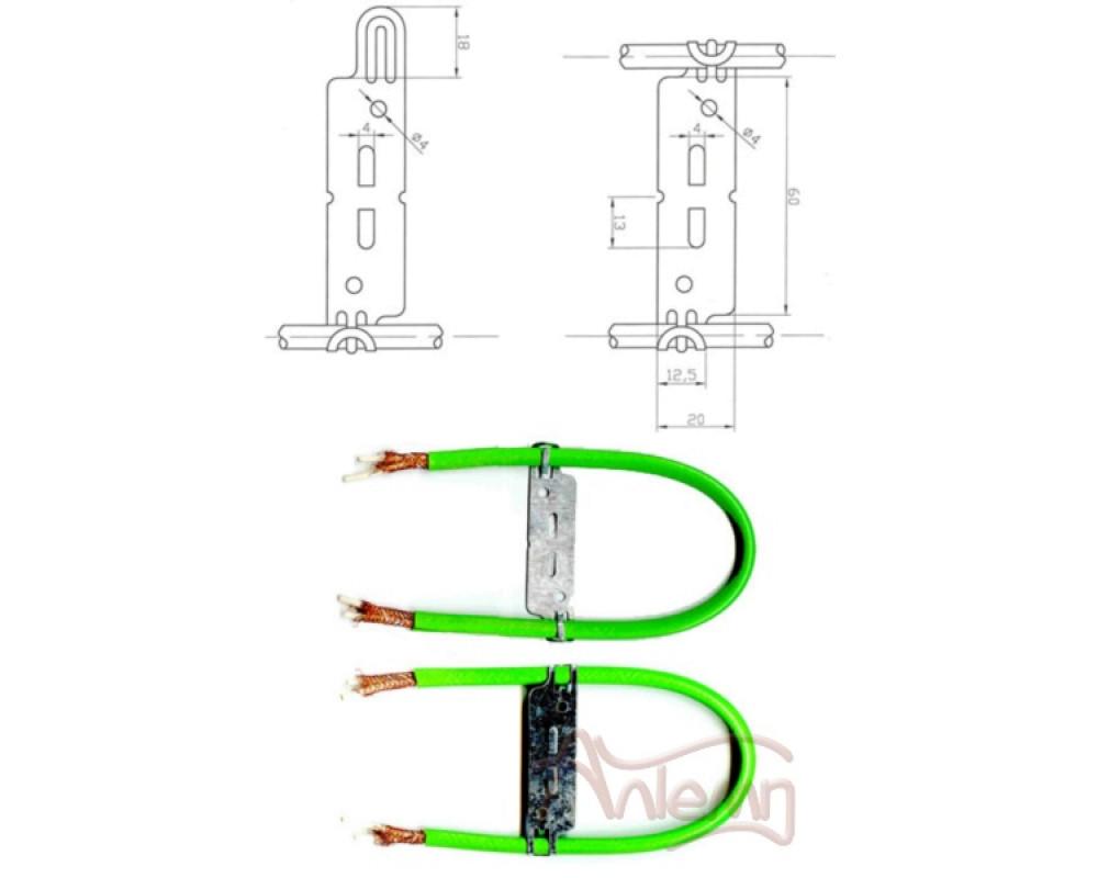 Крепеж для нагревательного кабеля