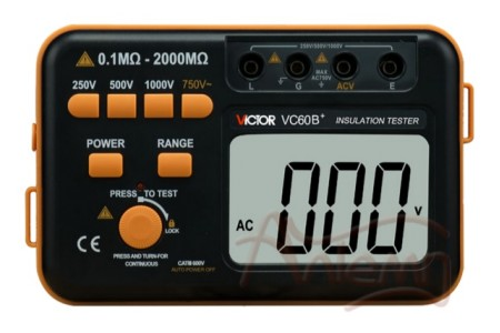 Измеритель сопротивления изоляции (мегаомметр) Victor VC60B+