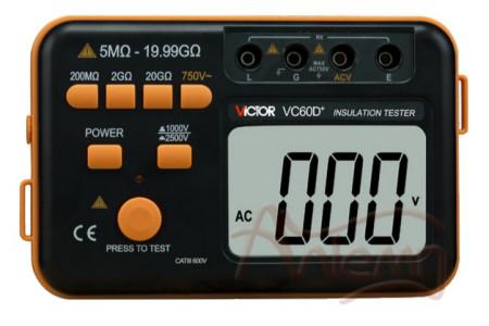 Измеритель сопротивления изоляции (мегаомметр) Victor VC60D+