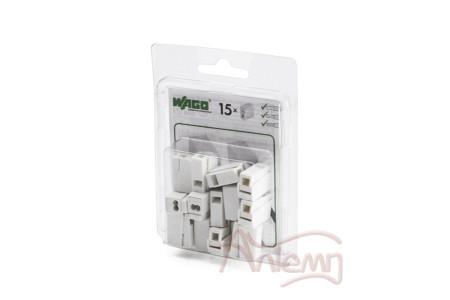 Клеммы WAGO 224-112/996-015 (2,5мм2 белые) для осветительного оборудования (блистер 15шт.)