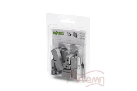 Клеммы WAGO 224-101/996-015 (2,5мм2 серые) для осветительного оборудования (блистер 15шт.)