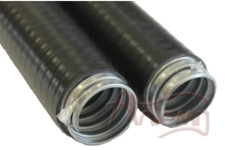 Металлорукав в пвх изоляции МПГ нг 15 (50 м/уп.) черный ЗЭТА