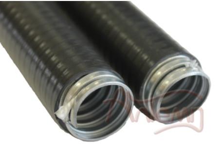 Металлорукав в пвх изоляции МПГ нг LSHF 20 (50 м/уп.) черный ЗЭТА